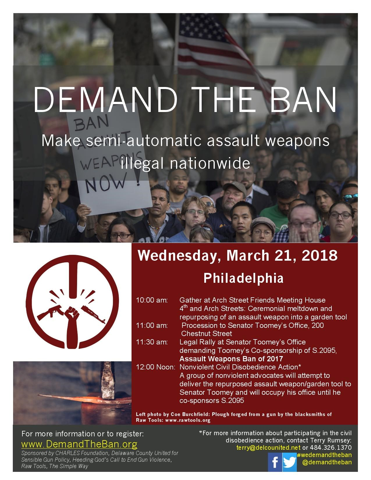 Demand the Ban on Semi-Automatic Assault Weapons—March 21